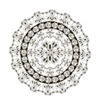 black and white round frame vector image