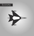 black and white style icon war plane vector image