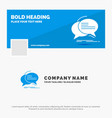 blue business logo template for bubble chat vector image