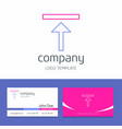 business card design with uploading company logo vector image