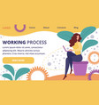 business woman working process with laptop office vector image