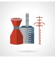 Chemical plant flat icon vector image vector image