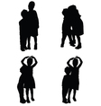 children in various pose silhouette vector image vector image