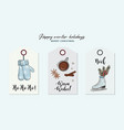 christmas hand-drawn greeing card with gloves hot vector image vector image