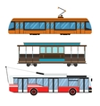 City transport set vector image vector image