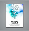 Colorful music festival concert template vector image vector image