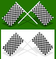 crossed checkered racing flags with transparent vector image