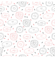 Cute hand drawn seamless pattern with donuts vector image vector image