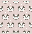 cute panda head seamless pattern for baby vector image vector image