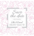 delicate wedding invitation card template vector image