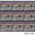 Ethnic aztec pattern vector image