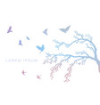figure set multicolored flock flying birds on vector image vector image