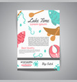 fishing brochure lake time text banners with vector image