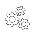 flat icon gears button vector image