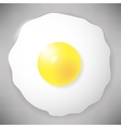 Fried Egg Icon Isolated on Grey Top View vector image