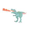 funny cartoon dinosaur tyrannosaurus vector image
