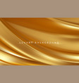 gold metallic silk flowing wave luxury trendy vector image