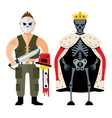 Halloween characters Cartoon vector image