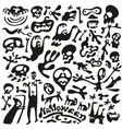Halloween - doodles set vector image vector image