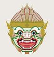 Hanuman head vector image