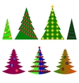 image seven Christmas trees with beautiful vector image
