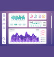infographic dashboard admin panel with info vector image vector image