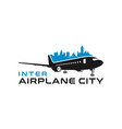 inter-city aircraft logo vector image vector image