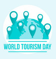 international tourism day background flat style vector image vector image