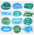 labels with christmas and new years designs vector image vector image