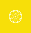lemon fruit logo vector image