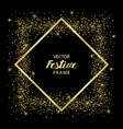 luxury and golden glitter square festive frame vector image vector image