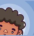 man cute face cartoon vector image