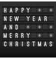 Mechanical timetable happy New Year 2014 vector image vector image