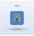 Melilla flag icon vector image vector image