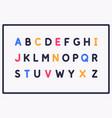 modern alphabet font capital letters latin vector image vector image
