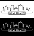new haven skyline linear style editable file vector image vector image