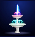 night fountain neon lights realistic vector image vector image