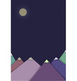 night landscape with mountains vector image
