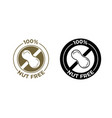 nut free food icon food package seal 100 percent vector image vector image