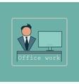 Office equipment logo vector image