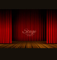 open red curtains stage theater or opera vector image