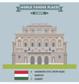 Opera Budapest vector image vector image