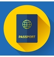 Passport icon Flat design vector image