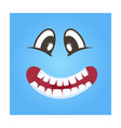 playful smiley face icon vector image vector image
