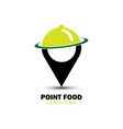 point food logo vector image vector image