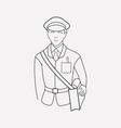 postman icon line element of vector image