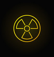 radiation linear yellow icon vector image vector image
