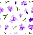 realistic detailed 3d lavender flowers seamless vector image
