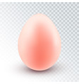 realistic pink egg vector image vector image