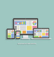 responsive web design web design technology vector image vector image